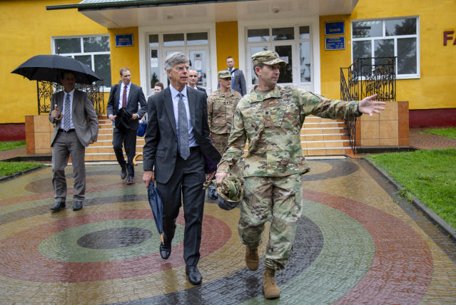 Bill Taylor in Yavoriv, Ukraine, August 2019. (Photo courtesy U.S. Embassy, Kiev, Ukraine)