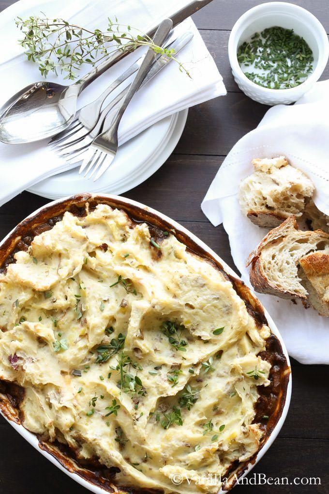 """<p>If meat's not your thing, swap it for hearty lentils and mushrooms to make it vegetarian-friendly. (Your meat-loving pals probably won't even notice!)</p><p><a href=""""http://vanillaandbean.com/cottage-pie/"""" rel=""""nofollow noopener"""" target=""""_blank"""" data-ylk=""""slk:Get the recipe from Vanilla and Bean »"""" class=""""link rapid-noclick-resp""""><em>Get the recipe from Vanilla and Bean »</em></a><br></p>"""