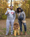 """<p>Sometimes the best squad is your family. And this <a href=""""https://www.instagram.com/lenize.fuentes/"""" rel=""""nofollow noopener"""" target=""""_blank"""" data-ylk=""""slk:mommy blogger"""" class=""""link rapid-noclick-resp"""">mommy blogger</a>'s DIY twist on the original <em>Wizard of Oz </em>crew is not only simple, but also creative. </p><p><a class=""""link rapid-noclick-resp"""" href=""""https://www.amazon.com/InCharacter-Lil-Lion-Infant-Costume/dp/B004UPTZIY?tag=syn-yahoo-20&ascsubtag=%5Bartid%7C10072.g.27868790%5Bsrc%7Cyahoo-us"""" rel=""""nofollow noopener"""" target=""""_blank"""" data-ylk=""""slk:Shop Lion Costume"""">Shop Lion Costume</a></p><p><a class=""""link rapid-noclick-resp"""" href=""""https://www.amazon.com/Carhartt-Womens-Double-Overalls-Midnight/dp/B07PGVYNML/?tag=syn-yahoo-20&ascsubtag=%5Bartid%7C10072.g.27868790%5Bsrc%7Cyahoo-us"""" rel=""""nofollow noopener"""" target=""""_blank"""" data-ylk=""""slk:Shop Denim Overalls"""">Shop Denim Overalls</a></p>"""