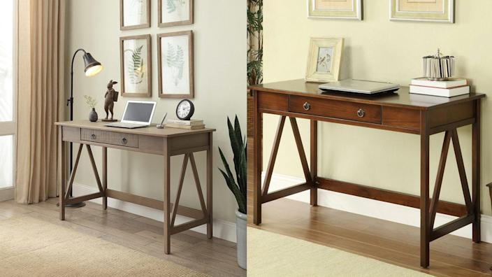 This desk doubles as a console table.