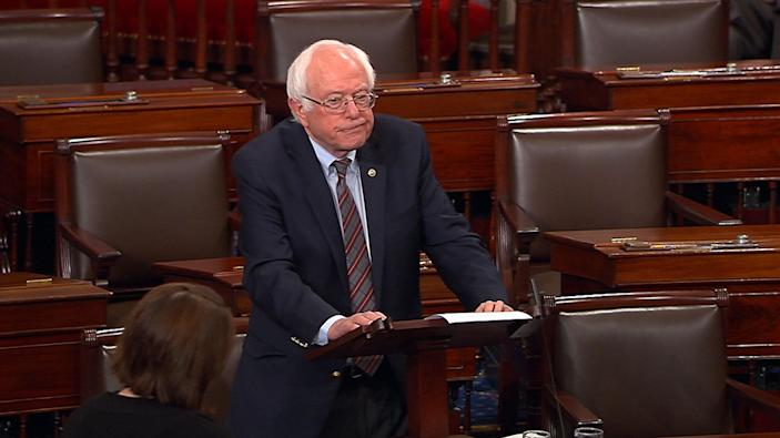 "<p>Sen. Bernie Sanders pauses as he speaks Wednesday, June 14, 2017, on the Senate floor at the Capitol in Washington, about the shooting at the Republican congressional baseball practice. Sanders says the man authorities identified as opening fire on the practice had apparently volunteered on his presidential campaign. Sanders says in a statement: ""I am sickened by this despicable act."" (Senate Television via AP) </p>"