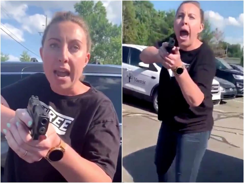 Videos of the heated confrontation in a Chipotle parking lot went viral earlier this month.