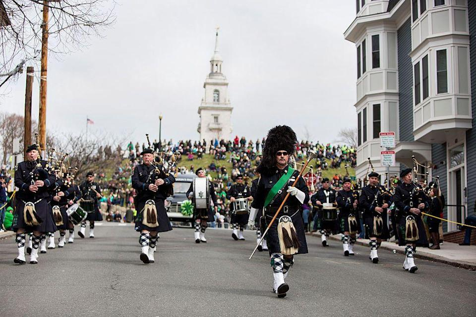 "<p>Boston is where many Irish immigrants settled once they arrived in America, and the <a href=""https://www.goodhousekeeping.com/holidays/g3264/green-drinks/"" rel=""nofollow noopener"" target=""_blank"" data-ylk=""slk:Irish spirit"" class=""link rapid-noclick-resp"">Irish spirit</a> is still alive and well in the city. It hosts one of the biggest celebrations in the U.S., drawing around a million people to the parade, which is <a href=""https://www.boston-discovery-guide.com/st-patricks-day-parade.html"" rel=""nofollow noopener"" target=""_blank"" data-ylk=""slk:usually about 3 miles"" class=""link rapid-noclick-resp"">usually about 3 miles</a>. In contrast, Arkansas hosts one of the shortest St. Patrick's Day parades in Hot Springs National Park - it's <a href=""http://www.shorteststpats.com/history/"" rel=""nofollow noopener"" target=""_blank"" data-ylk=""slk:only 98 feet"" class=""link rapid-noclick-resp"">only 98 feet</a>!</p>"