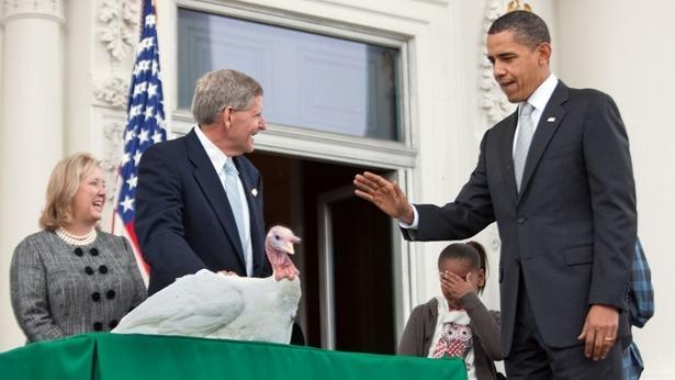 """<p>In this 2009 photo, daughter Sasha covers her face as President Obama is presented with a turkey named Courage. It's OK, Sasha! """"Thanks to the interventions of Malia and Sasha — because I was planning to eat this sucker — Courage will also be spared this terrible and delicious fate,"""" President Obama <a href=""""http://us.hellomagazine.com/celebrities/200911262483/obama/thanksgiving/turkey/"""" rel=""""nofollow noopener"""" target=""""_blank"""" data-ylk=""""slk:said at the ceremony."""" class=""""link rapid-noclick-resp"""">said at the ceremony.</a> (Photo: Lawrence Jackson/The White House)</p><p><b>Want more Thanksgiving inspiration? Here you go! </b></p><p><a href=""""https://www.yahoo.com/food/dont-blame-the-turkey-the-truth-behind-103562029471.html"""" data-ylk=""""slk:Don't Blame the Turkey: The Truth Behind Tryptophan;outcm:mb_qualified_link;_E:mb_qualified_link;ct:story;"""" class=""""link rapid-noclick-resp yahoo-link"""">Don't Blame the Turkey: The Truth Behind Tryptophan</a><br></p><p><a href=""""https://www.yahoo.com/food/every-turkey-recipe-perfect-thanksgiving-124110594.html"""" data-ylk=""""slk:Every Turkey Recipe You Need for Thanksgiving;outcm:mb_qualified_link;_E:mb_qualified_link;ct:story;"""" class=""""link rapid-noclick-resp yahoo-link"""">Every Turkey Recipe You Need for Thanksgiving</a></p><p><a href=""""https://www.yahoo.com/food/ina-gartens-make-ahead-thanksgiving-advice-103053735363.html"""" data-ylk=""""slk:Ina Garten's Make-Ahead Thanksgiving Advice;outcm:mb_qualified_link;_E:mb_qualified_link;ct:story;"""" class=""""link rapid-noclick-resp yahoo-link"""">Ina Garten's Make-Ahead Thanksgiving Advice</a><br></p><p><a href=""""https://www.yahoo.com/food/the-10-commandments-of-perfect-mashed-potatoes-101851744373.html"""" data-ylk=""""slk:The 10 Commandments of Perfect Mashed Potatoes;outcm:mb_qualified_link;_E:mb_qualified_link;ct:story;"""" class=""""link rapid-noclick-resp yahoo-link"""">The 10 Commandments of Perfect Mashed Potatoes</a></p>"""