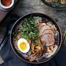 """Lush pork, springy noodles, and a heady broth you can't stop slurping. Bringing shoyu ramen home takes a bit of work and your largest pot, but this low-stress (really!) labor of love might be the best soup you'll ever make. <a href=""""https://www.epicurious.com/recipes/food/views/shoyu-ramen-51187270?mbid=synd_yahoo_rss"""" rel=""""nofollow noopener"""" target=""""_blank"""" data-ylk=""""slk:See recipe."""" class=""""link rapid-noclick-resp"""">See recipe.</a>"""