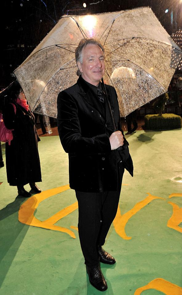 """<a href=""""http://movies.yahoo.com/movie/contributor/1800021960"""">Alan Rickman</a> at the London premiere of <a href=""""http://movies.yahoo.com/movie/1810078365/info"""">Alice in Wonderland</a> - 02/25/2010"""