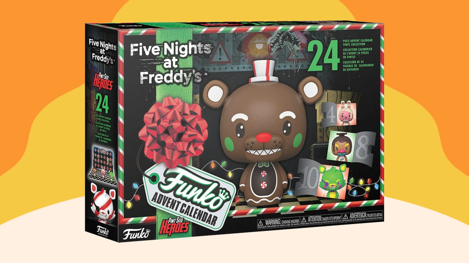 The Five Nights at Freddy's advent calendar is available at Amazon and GameStope.