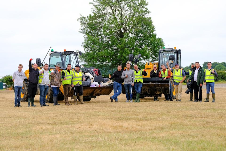 On Friday many of the travellers have began tidying the site after the event, with dozens offering to litter pick both inside and along the roads around the Rutland showground (swns)