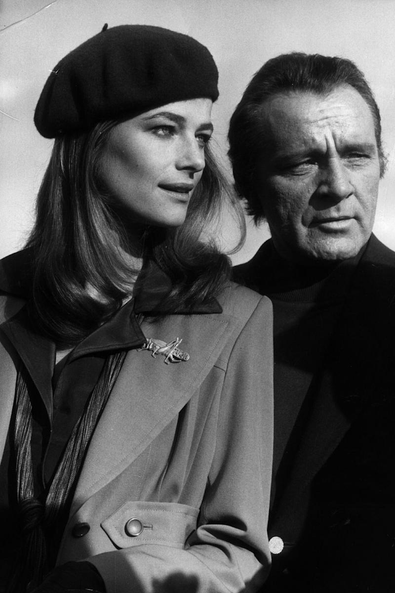 Photo credit: Charlotte Rampling and Richard Burton in1974 - Getty Images