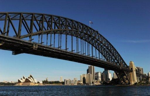 File photo shows the Sydney Harbour Bridge. Australia has clocked robust economic growth in recent years despite the global slowdown, but Julia Gillard added that while the mining and resources sectors were booming, strong creative industries helped build a diversified economy