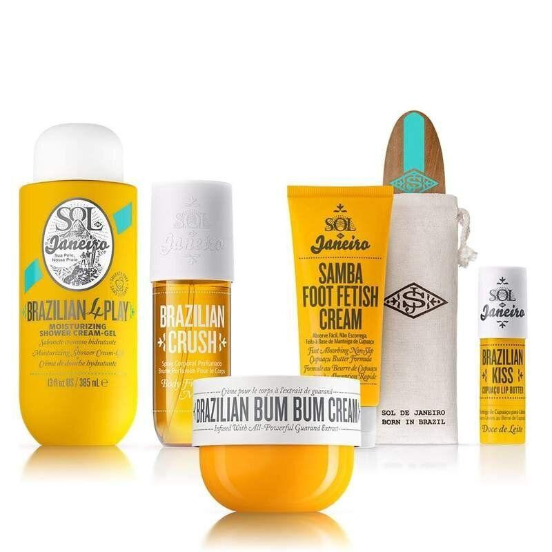 """<a href=""""https://fave.co/33kHA53"""" target=""""_blank"""" rel=""""noopener noreferrer"""">Sol de Janeiro</a> is a bestselling skin and body care brand known for its powerful ingredients and signature scent (it's top-rated <a href=""""https://fave.co/2EPHn08"""" target=""""_blank"""" rel=""""noopener noreferrer"""">Brazilian Bum Bum Cream</a> is one of <a href=""""https://www.huffpost.com/entry/would-recommend-june-2020_l_5ef63672c5b6ca97090f2bfd"""" target=""""_blank"""" rel=""""noopener noreferrer"""">our shopping editor's favorites</a>). It was founded by Brazilian-born Camila Pierotti, whose mission is to celebrate and boost confidence for every unique body.Shop Sol de Janeiro products at <a href=""""https://fave.co/33kHA53"""" target=""""_blank"""" rel=""""noopener noreferrer"""">Sol de Janiero</a> or Sephora."""