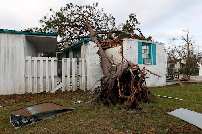 A house damaged in Panama City.