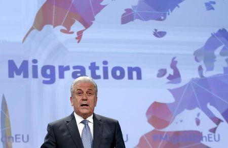 European Union Commissioner for Migration Dimitris Avramopoulos addresses a news conference on the European Agenda on Migration at the EU Commission headquarters in Brussels, in this May 27, 2015 file photo.   REUTERS/Francois Lenoir