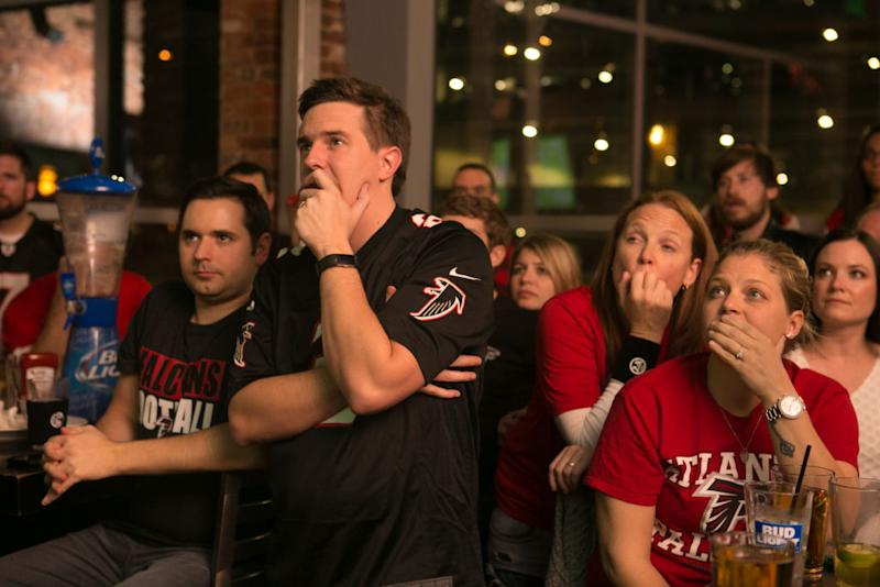 Falcons fans rank among the NFL's most broken. (Getty)