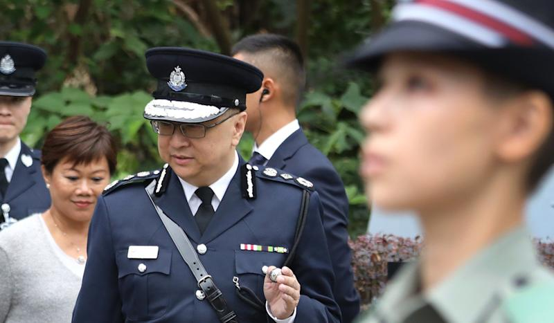 Hong Kong police chief admits the city's security fence lies 'some distance' inside the actual border with mainland China