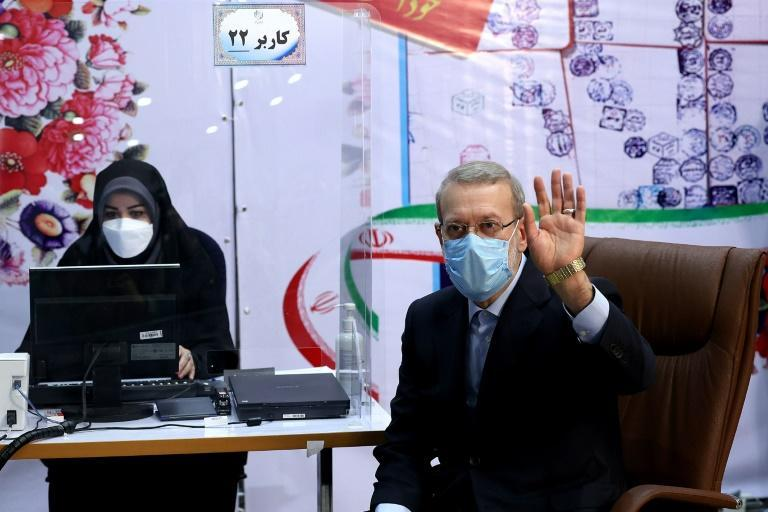 Iran's former parliament speaker Ali Larijani registers his candidacy for Iran's presidential elections