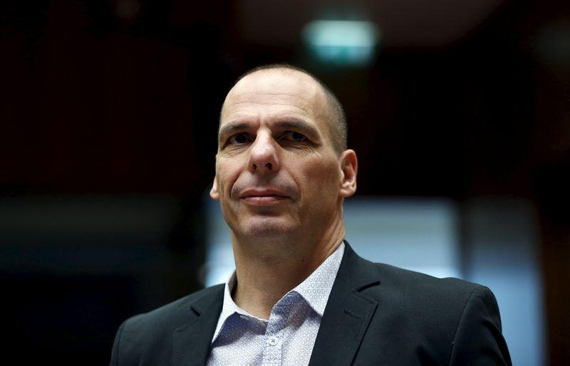 Greece's Finance Minister Varoufakis attends an EU finance ministers meeting in Brussels