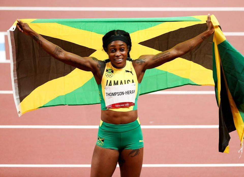<p>Elaine Thompson-Herah of Jamaica made Olympic history when she became the first woman ever to win both the 100m and 200m titles in back-to-back races. Her times also made the quickest woman alive across both sprint distances.</p>