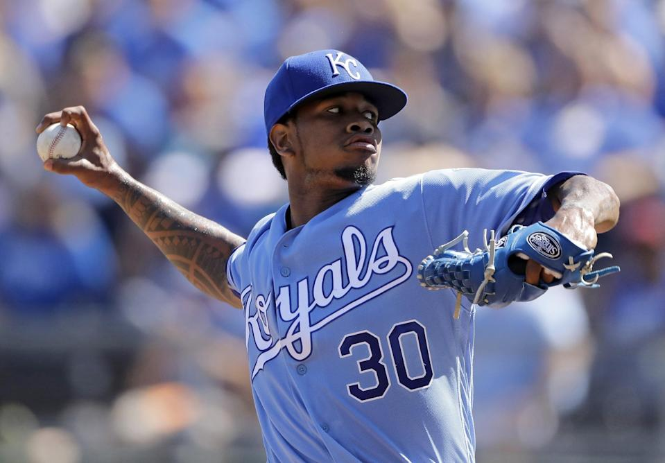 Yordano Ventura spent the entirety of his brief career with the Royals before dying on Jan. 22. (AP)