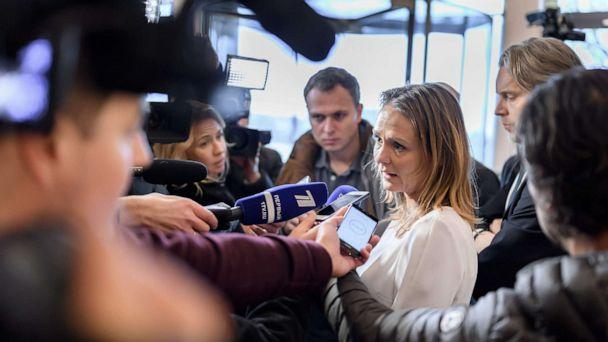 PHOTO: Norway's Linda Hofstad Helleland, a member of the World Anti-Doping Agency (WADA) foundation board, answers journalists following a meeting of WADA's executive committee on Dec. 9, 2019 in Lausanne. (Photo by FABRICE COFFRINI/AFP via Getty Images) (Fabrice Coffrini/AFP via Getty Images)