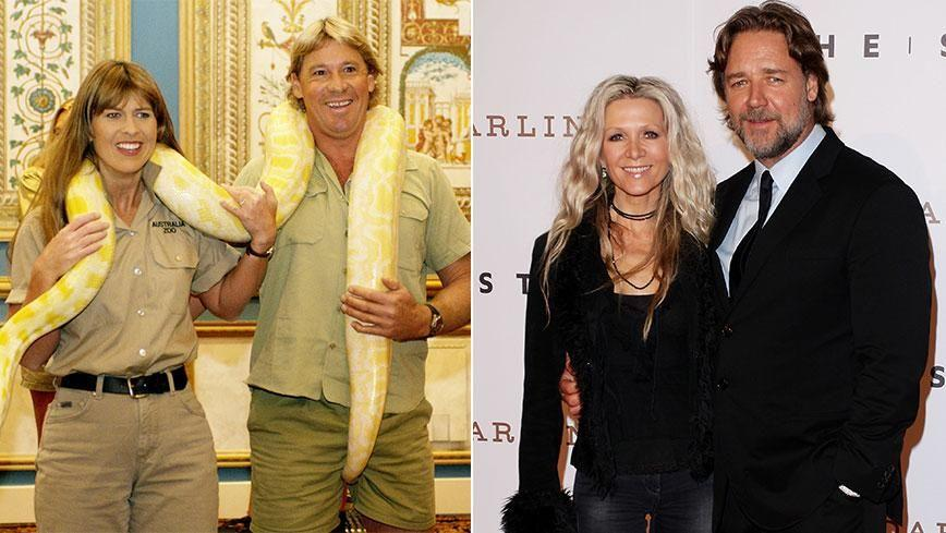 Terri was married to the late Steve Irwin, while Russell split with wife Danielle Spencer in 2012. Photo: Getty Images