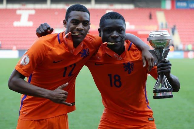 Ryan Gravenberch (left) was part of Holland's Under-17 World Cup-winning squad in 2018.