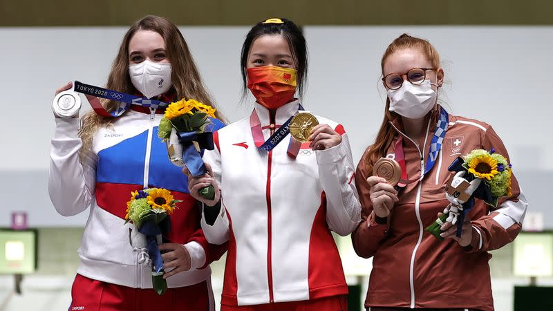 Shooting - Women's 10m Air Rifle - Medal Ceremony