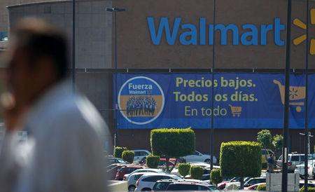 FILE PHOTO: A general view of a Wal-Mart store in Mexico City