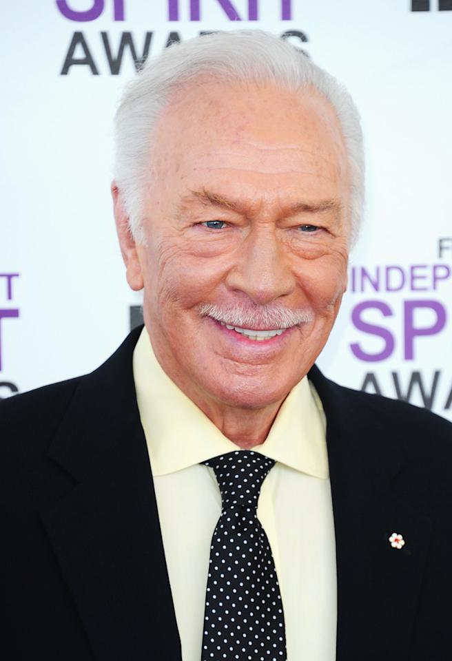 SANTA MONICA, CA - FEBRUARY 25:  Actor Christopher Plummer arrives at the 2012 Film Independent Spirit Awards on February 25, 2012 in Santa Monica, California.  (Photo by Alberto E. Rodriguez/Getty Images)