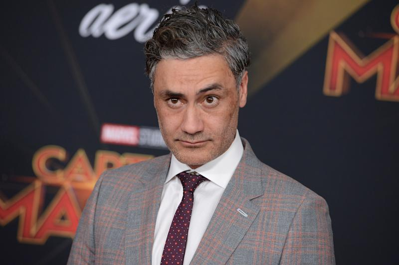 "Taika Waititi arrives at the world premiere of ""Captain Marvel"" on Monday, March 4, 2019, at the El Capitan Theatre in Los Angeles. (Photo by Jordan Strauss/Invision/AP)"
