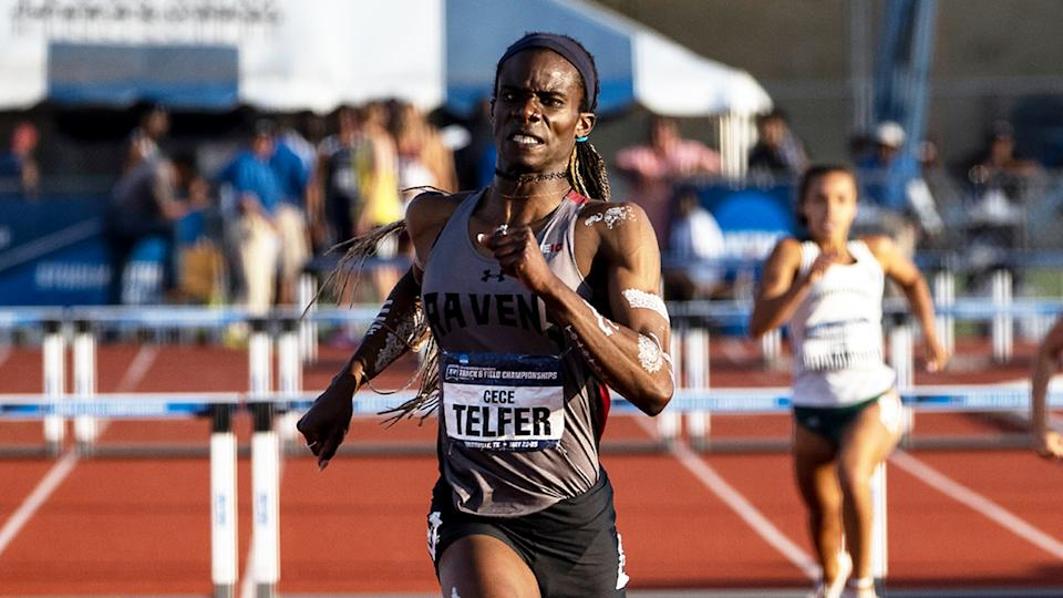 CeCe Telfer (pictured) running during the NCAA.