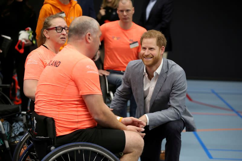 FILE PHOTO: Official launch of the one year countdown to the Invictus Games The Hague 2020