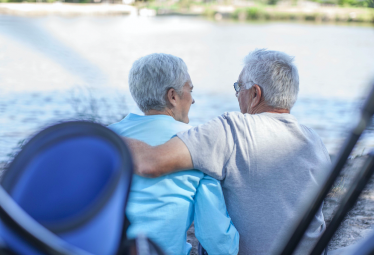 Couples in their 80s and 90s are more intimate, the study said (Picture: Rex)