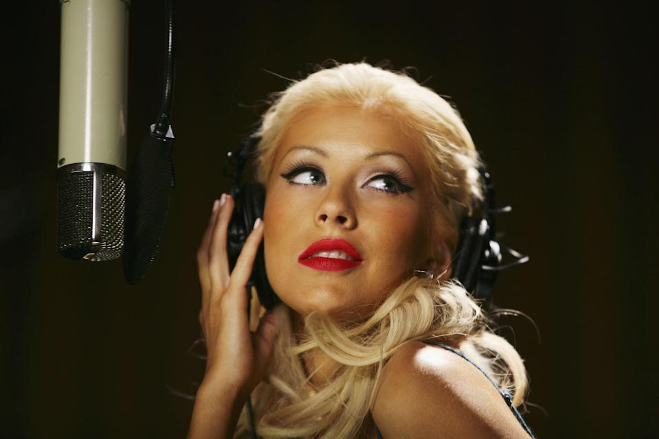 Christina Aguilera's singing career started to take off at the age of 9. (Photo: Getty Images)