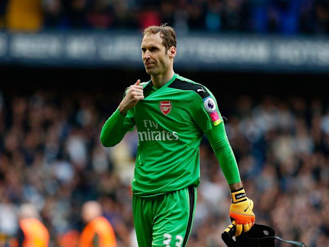 Cech was left disappointed by Sunday's result: Getty