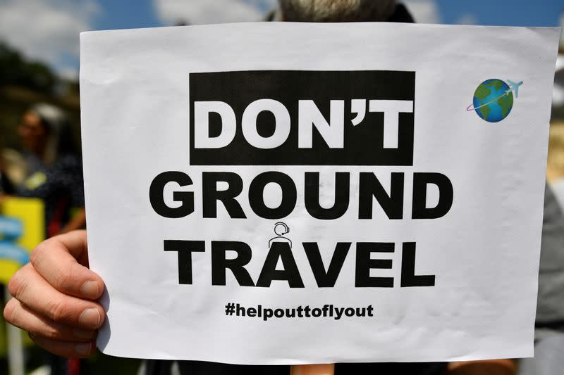 Demonstration against COVID-19 travel restrictions in London