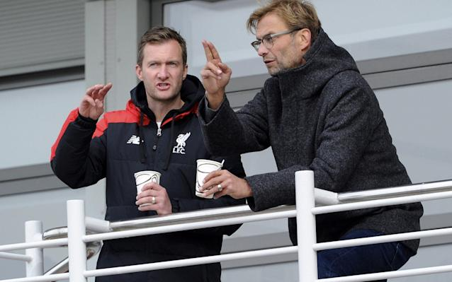 <span>Liverpool academy director Alex Inglethorpe (left)</span> <span>Credit: GETTY IMAGES </span>
