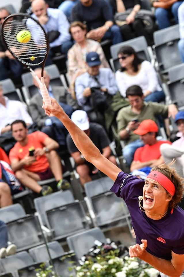 Germany's Alexander Zverev won in Rome in 2017. (AFP Photo/Andreas SOLARO)