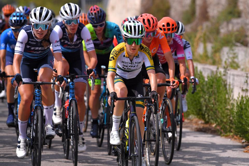 Amanda Spratt during stage 6 at the Giro Rosa