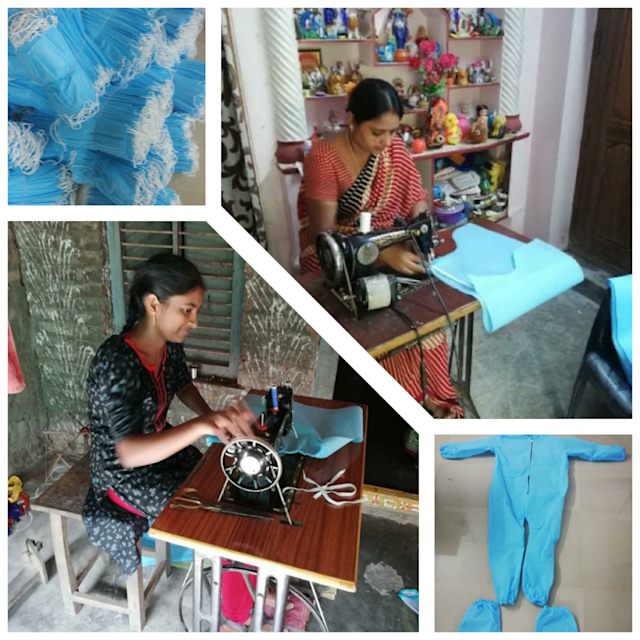 1M1B tailoring unit members working from home