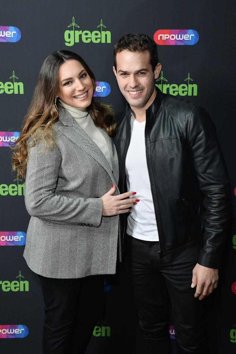 Loved up: Kelly Brook and Jeremy Parisi (Jeff Spicer/PA)