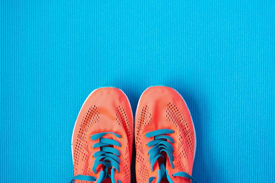 """<p>""""Worn out sneakers can hurt the arches of your feet, ache your back, and can also leave you with painful blisters,"""" says DiDio. """"If you're working out every day, try to rotate between two to three pairs of <a href=""""https://www.prevention.com/fitness/workout-clothes-gear/a19583767/best-walking-shoes-for-women/"""" rel=""""nofollow noopener"""" target=""""_blank"""" data-ylk=""""slk:walking shoes"""" class=""""link rapid-noclick-resp"""">walking shoes</a>, and replace one pair every four to six months.""""</p>"""