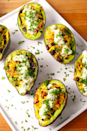 """<p>This dinner recipe is SO helpful for when all of your avocados are ripe at the same exact time. </p><p><em><a href=""""https://www.delish.com/cooking/recipes/a52204/chicken-taco-avocados-recipe/"""" rel=""""nofollow noopener"""" target=""""_blank"""" data-ylk=""""slk:Get the recipe from Delish »"""" class=""""link rapid-noclick-resp"""">Get the recipe from Delish »</a></em></p>"""