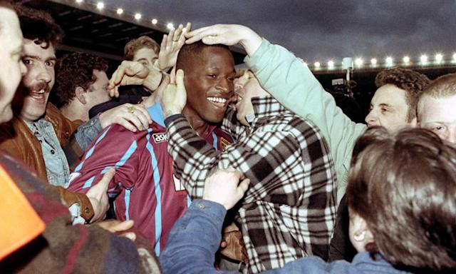 """<span class=""""element-image__caption"""">Ugo Ehiogu during his time at Aston Villa, for whom he made more than 200 appearances, helping the Midlands club win the Coca-Cola Cup in 1996. </span> <span class=""""element-image__credit"""">Photograph: David Jones/PA</span>"""