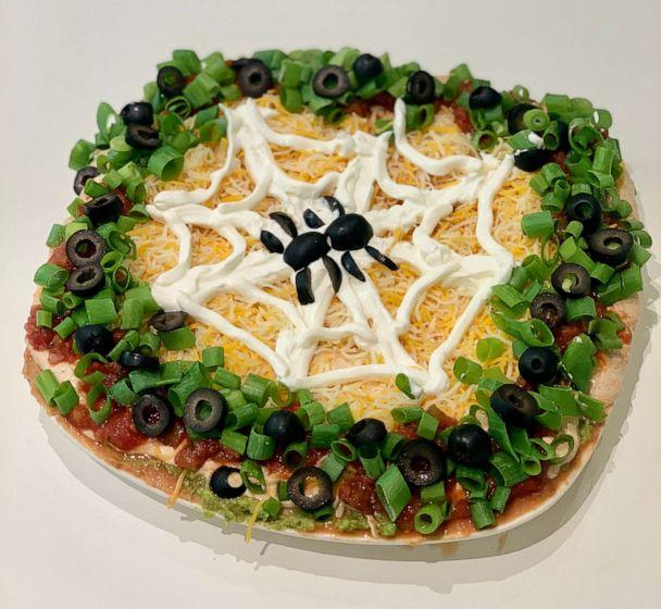 PHOTO: I made Pinterest's top trending Halloween recipes, which included Spiderweb Taco Dip. ( )