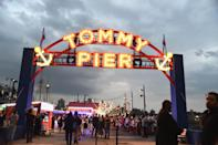 <p>TommyPier featured an old-school arcade, hot dog and doughnut stands and an impressive 40-foot Ferris wheel.<br><i>[Photo: Getty]</i> </p>