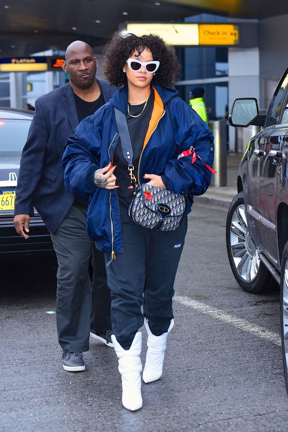 <p>Hit peak laziness with a sweatsuit you may or may not have slept in. It's the perfect winter look, because paired up with a puffer and fashion-y boots, you'll serve up major streetwear vibes. </p>