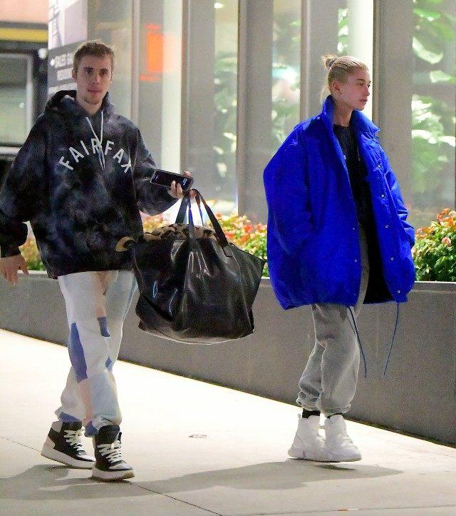 532b5466791f Justin Bieber and Hailey Baldwin were spotted back together in NYC on  Sunday night, after