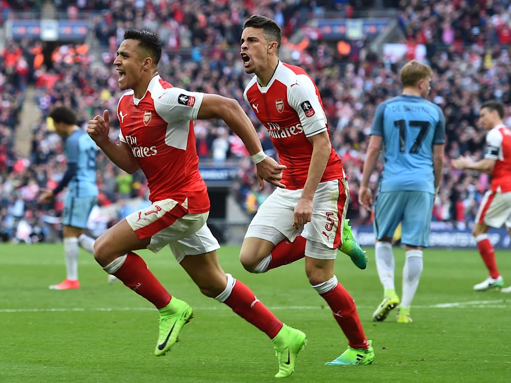 Alexis Sanchez struck from close range to send Arsenal through to meet Chelsea: Getty