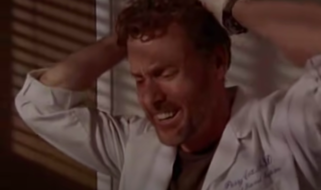 """<div><p>""""When Dr. Cox loses four patients. It just rips your heart apart, but also shows the epic quality of acting within the show.""""</p><p>—<a href=""""https://www.reddit.com/r/AskReddit/comments/pvivem/what_is_a_scene_from_a_tv_show_that_really/heakznr/?context=3&utm_medium=web2x&utm_source=reddit"""" rel=""""nofollow noopener"""" target=""""_blank"""" data-ylk=""""slk:u/lolodune"""" class=""""link rapid-noclick-resp"""">u/lolodune</a></p></div><span> NBC</span>"""